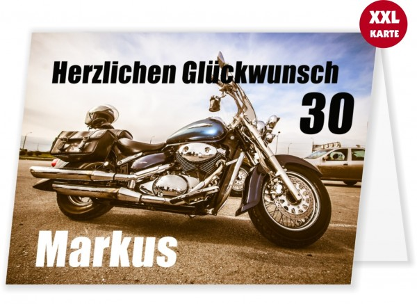 Glückwunschkarte Männer Motorrad Geburtstag 30 Jahre