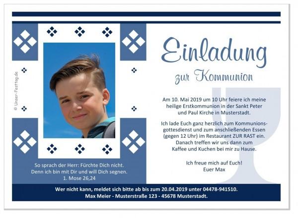 Einladung Zur Kommunion Junge