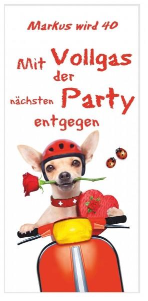 Einladungskarten Geburtstag Vollgas Party