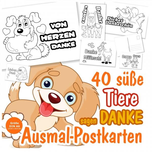 Dankeskarten Dankeschön Postkarten Tiere Sagen Danke