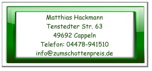 Moderne Adressetiketten Grüner Rahmen