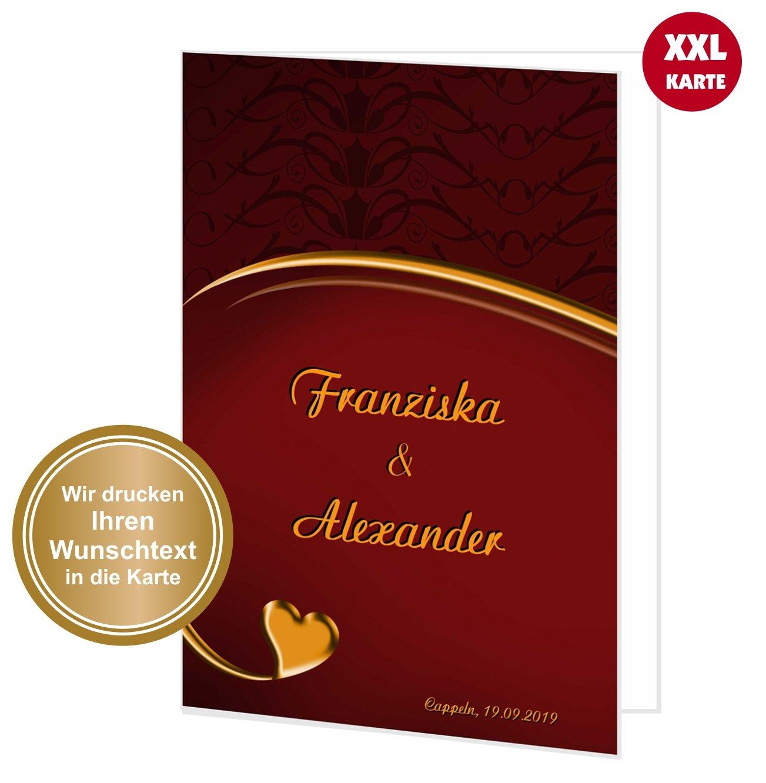 Feste Besondere Anlässe Glückwunschkarte Xl Hochzeit