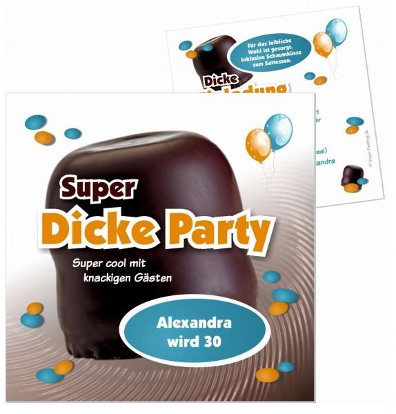 Lustige Einladungskarten Super Dicke Party