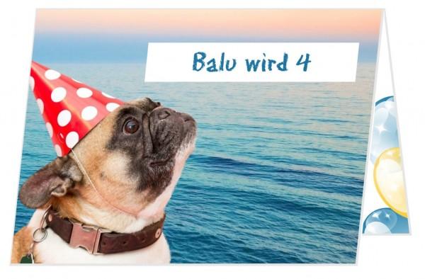Lustige Einladungskarte Geburtstag Hund