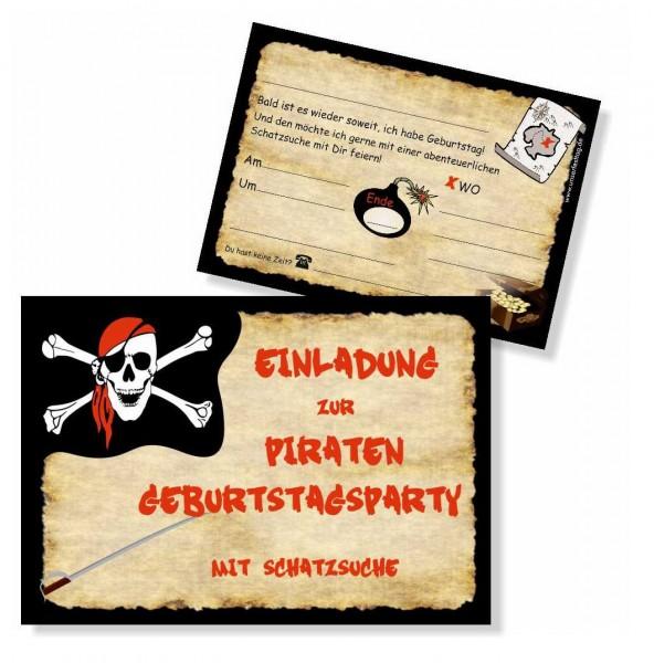 Kindergeburtstag Einladung Piratenparty Motto