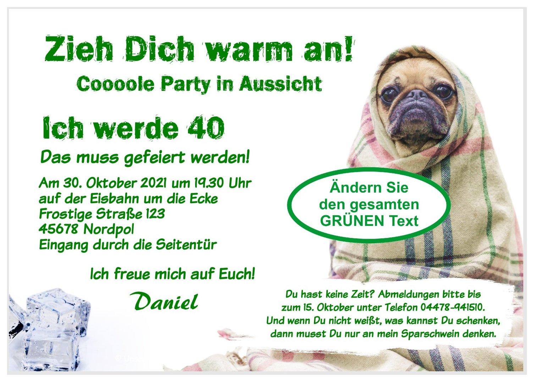 Lustige Geburtstagseinladung Mops Mit Decke Unser Festtag