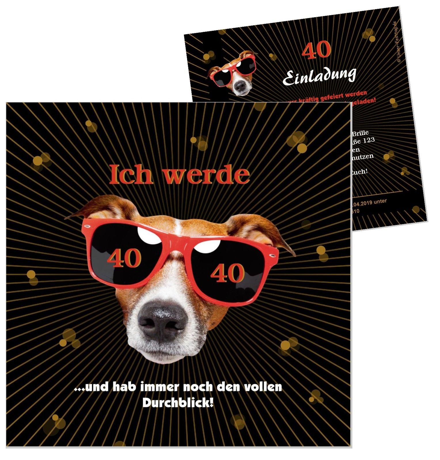 Vorschau lustige einladungskarte hund geburtstag