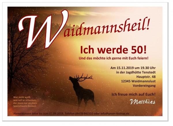 Geburtstagseinladung Für Jäger Hirsch