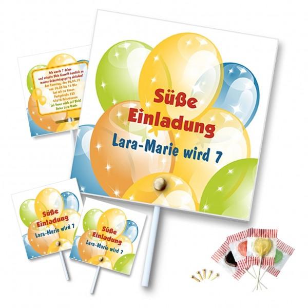 Einladungskarte Am Lutscher Kinder
