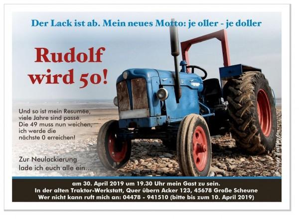 Geburtstagseinladung Traktor Bauer Landwirt