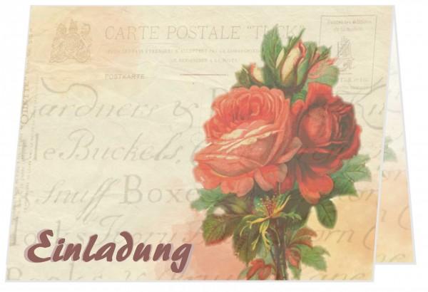 Geburtstagseinladungen Rote Rosen Erwachsene