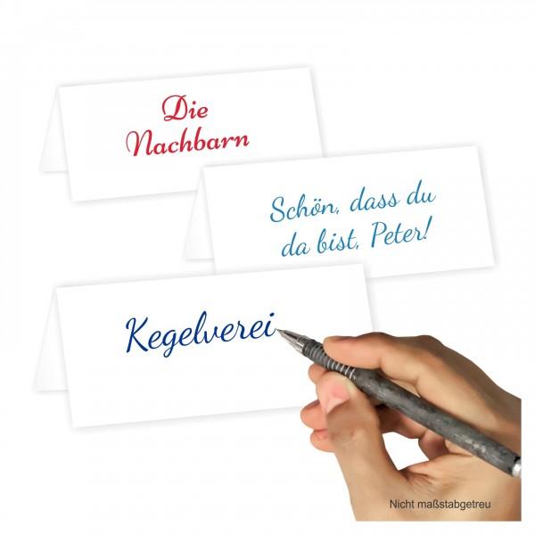 Tischkarten Blanko Weiss