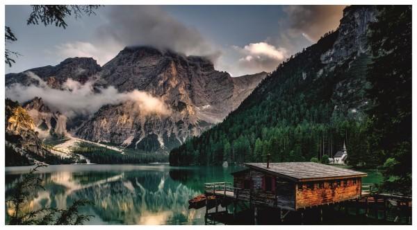 Almhütte See Berge