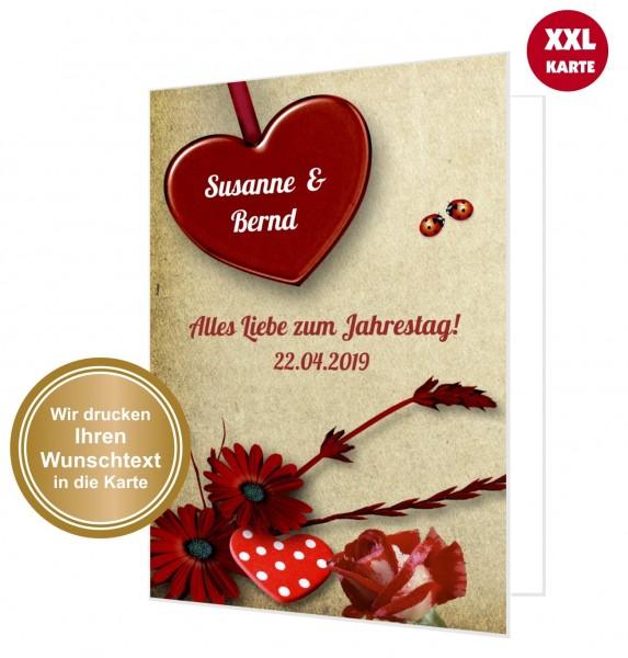 Xxl Glückwunschkarte Liebe Vintage