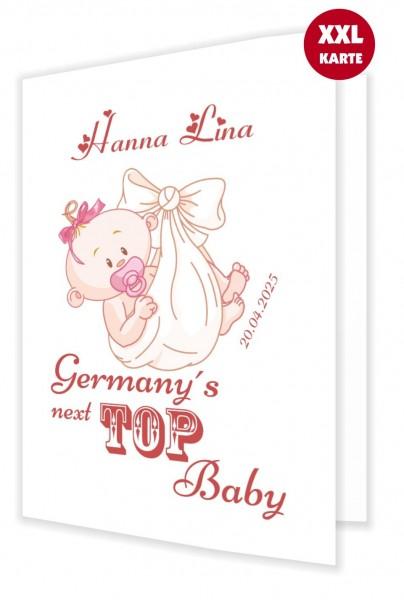 Glückwunschkarte Geburt Baby Mädchen Ausgefallen