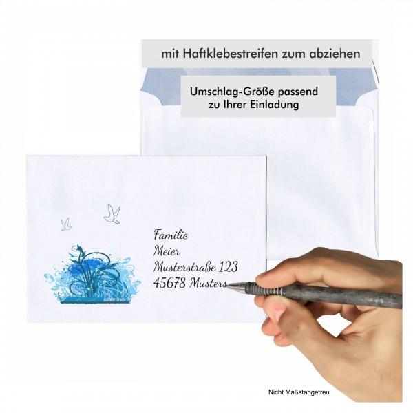 Umschlag Kommunion Kringel Junge Motiv
