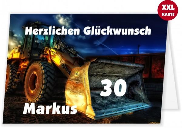 Geburtstagskarte Für Baggerfahrer Maxi Wunschtext