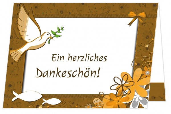 Dankeskarten Kommunion Klappkarte Schön