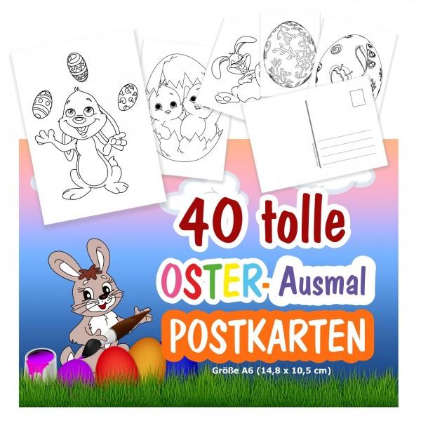 Postkarten Ostern für Kinder zum Ausmalen