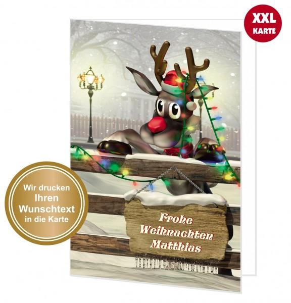 Große Weihnachtskarte Mit Wunschtext