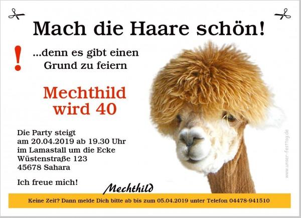 Einladungskarte Lustig Lama