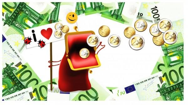 Xxl Postkarte Portemonnaie Mit Geld