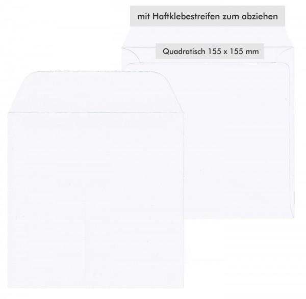 Briefumschläge Weiss Quadratisch Viereckig