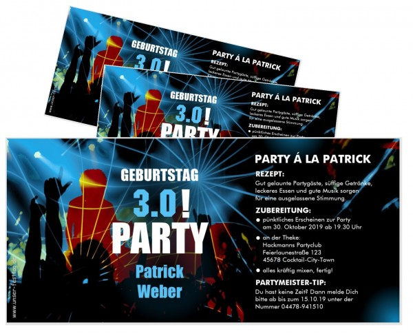 Einladungskarte Geburtstag Männer Club