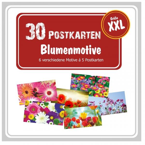 Postkartenpaket Gewinnspiele Scraapbooking Blumen